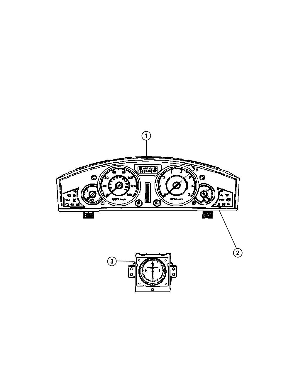 chrysler 300 used for  mask and lens  instrument cluster   instrument panel parts