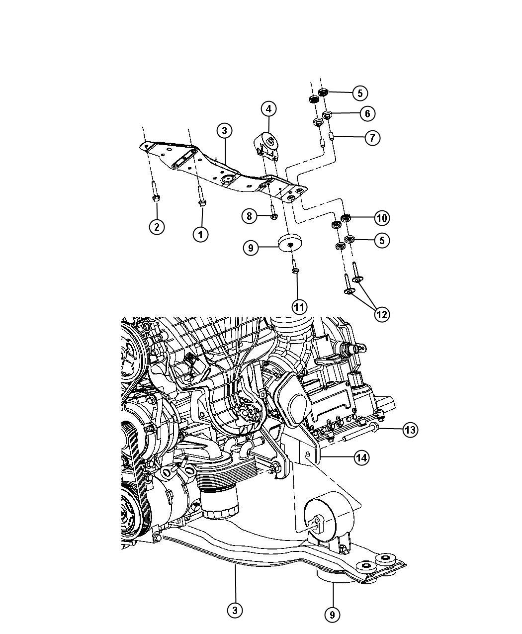 Chrysler Sebring Bracket  Engine Mount  Front   Power