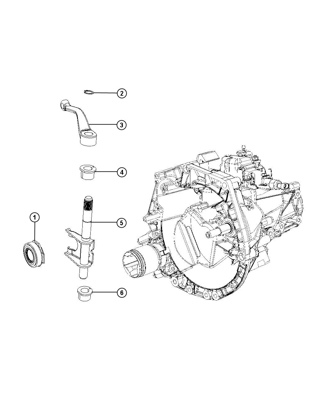 2012 Fiat 500 Bearing  Clutch Release  Mexico  Ratio  Rear