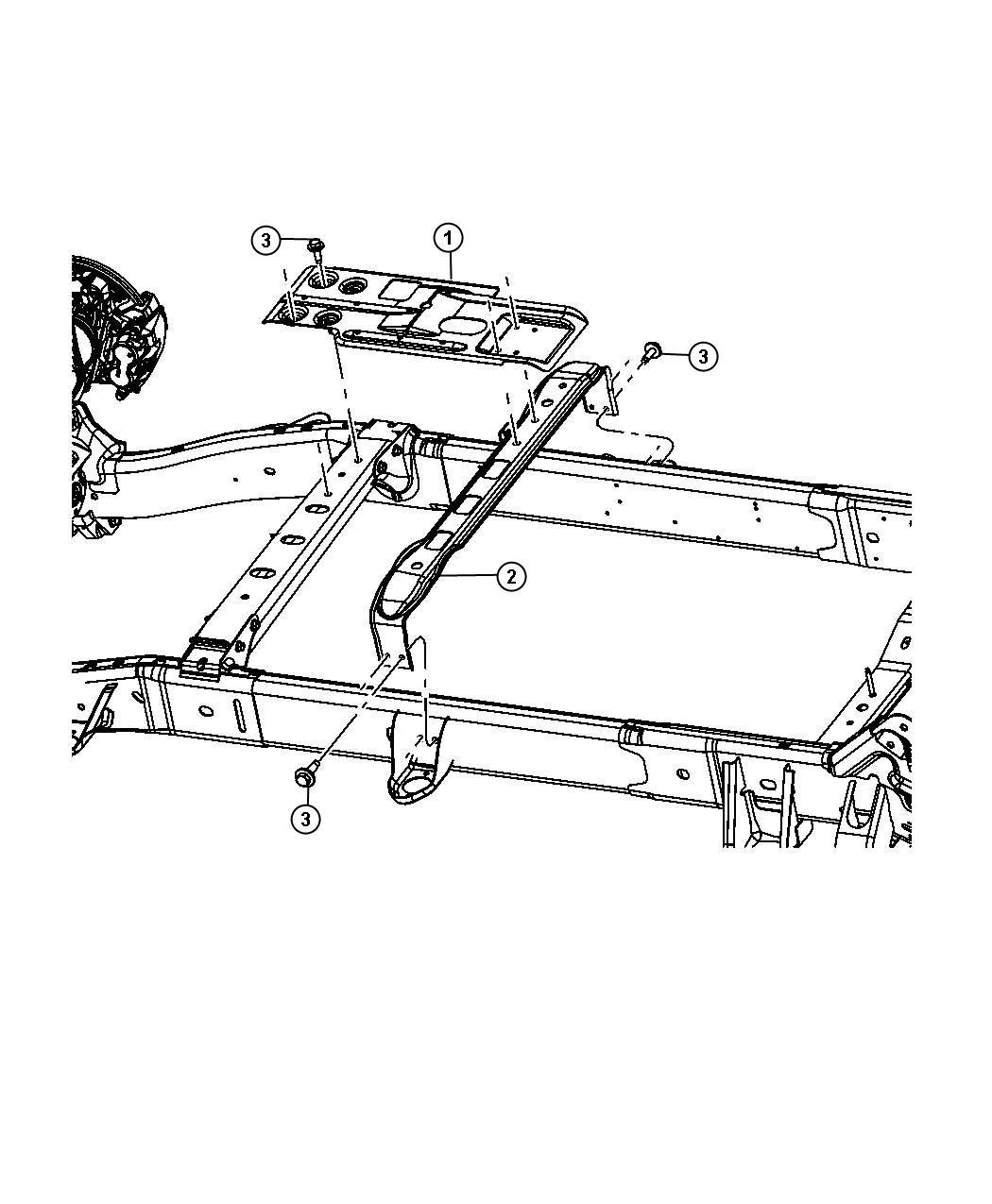 Ram 1500 Crossmember  Skid Plate  Mounting