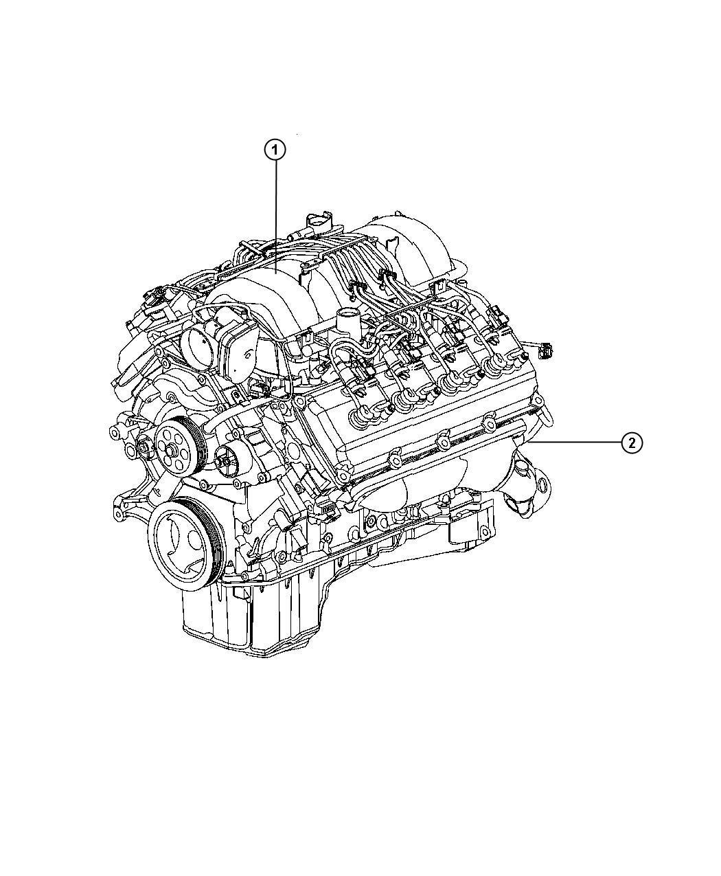 ram 1500 engine  long block  remanufactured  manifold  failure  valve