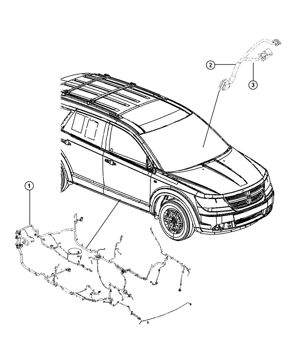 Dodge Journey Wiring  Unified Body  Mexico   Export