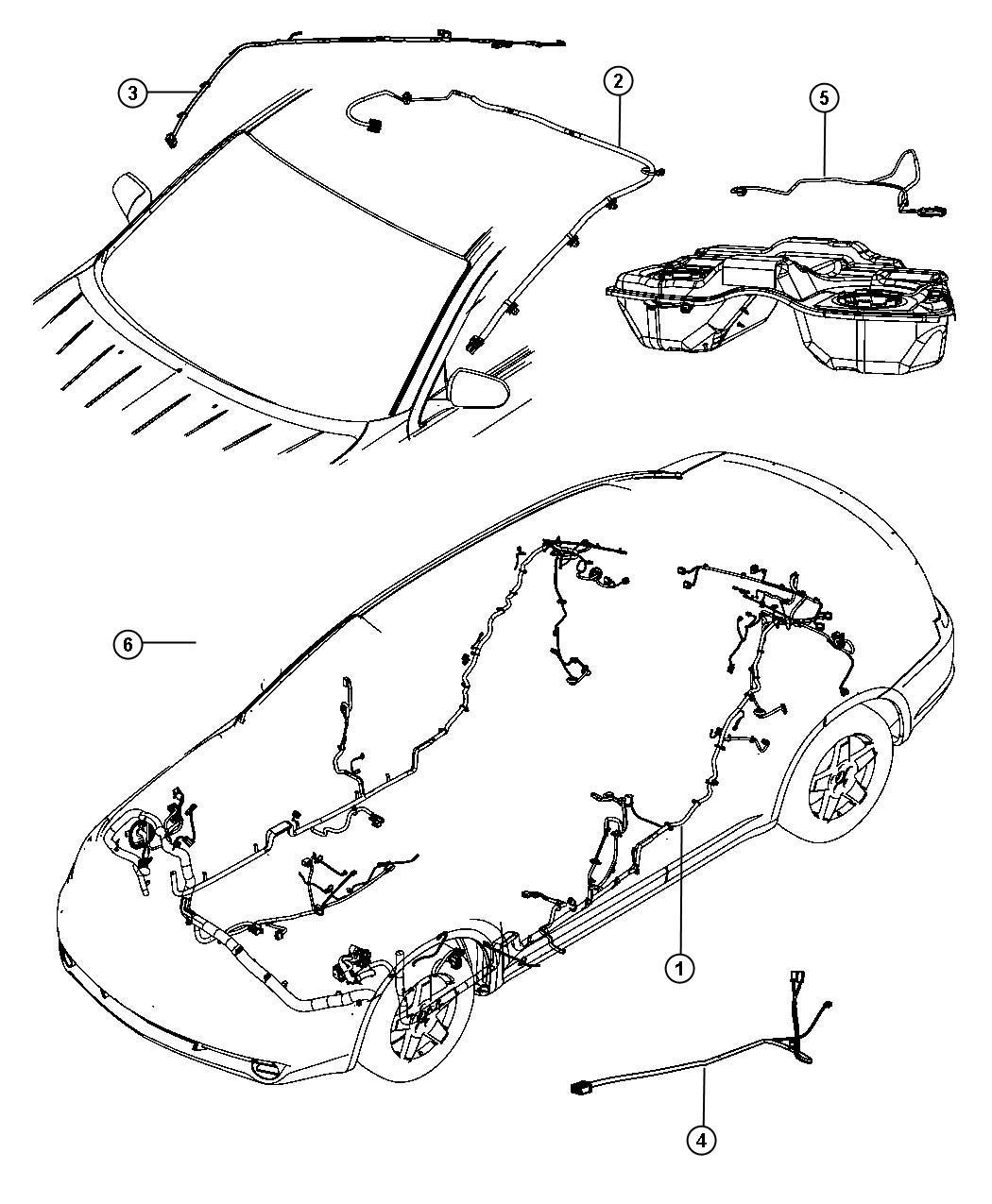 Chrysler 200 Wiring  Unified Body  Sirius  Satellite