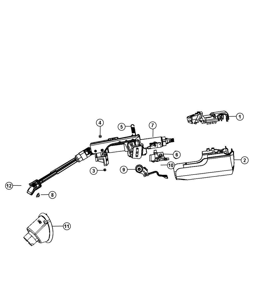 2012 Chrysler 200 Boot Package  Steering Column  Includes