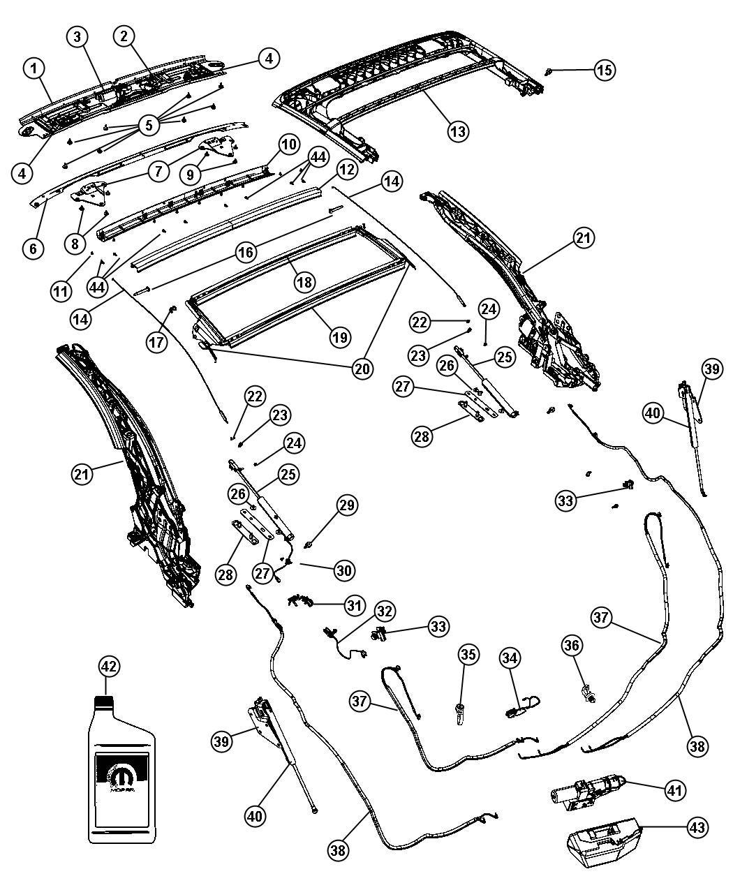 2012 Chrysler 200 Clip. Trim: [all Trim Codes]. Tonneau