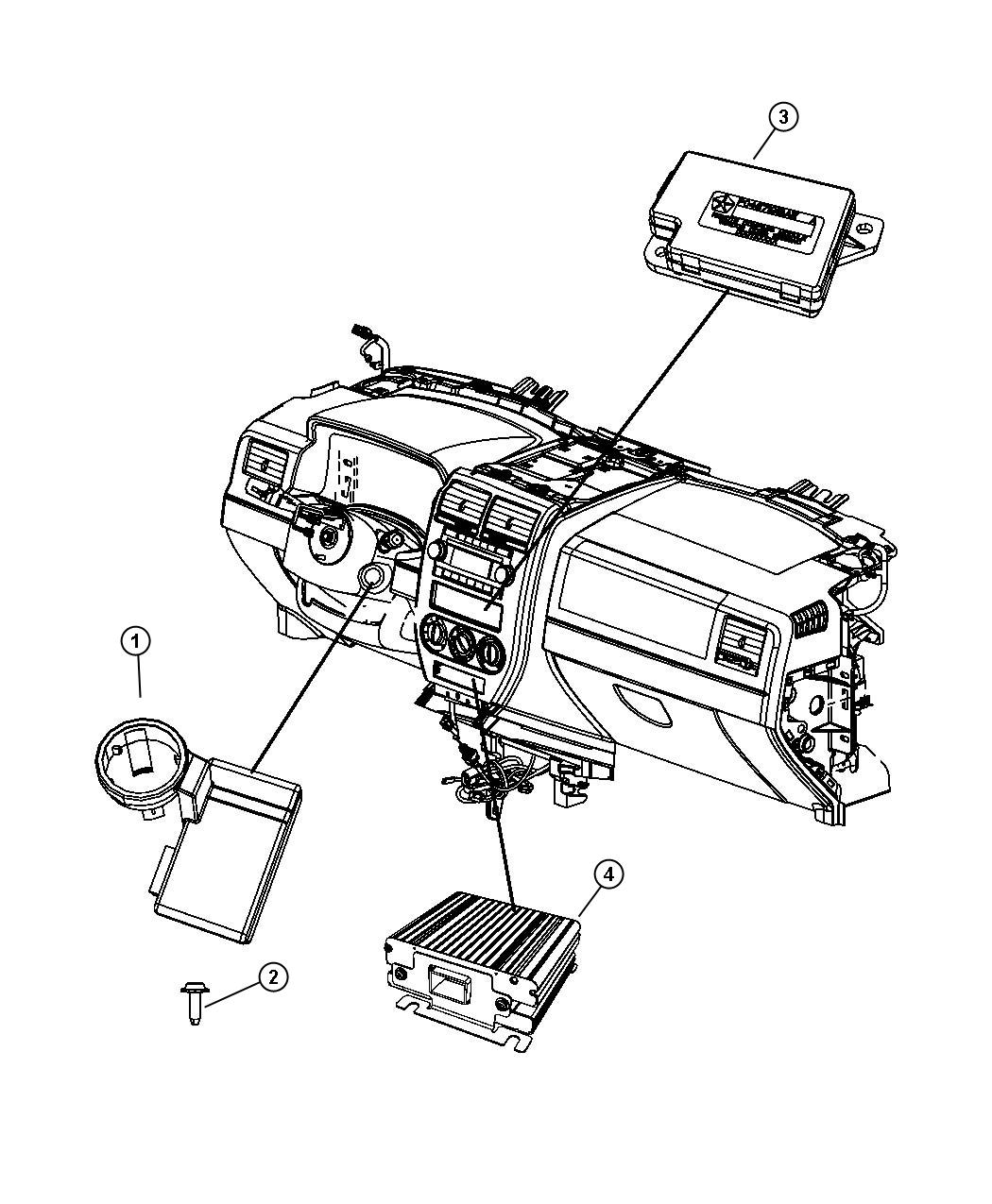 2010 jeep patriot module  power inverter  with bracket