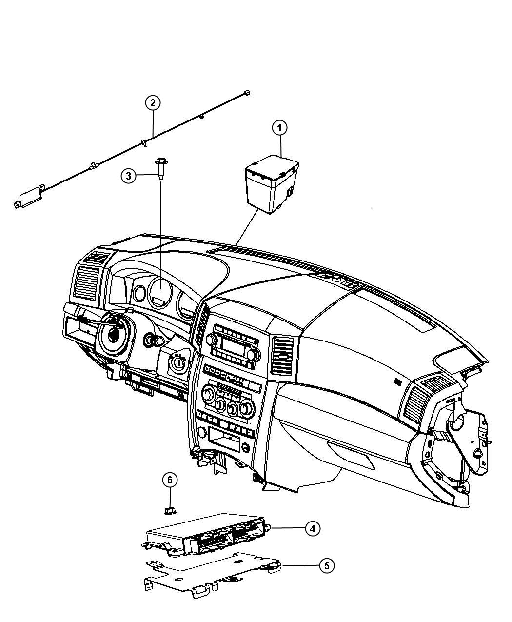 2011 jeep grand cherokee bracket  transmission control module  instrument  modules  panel