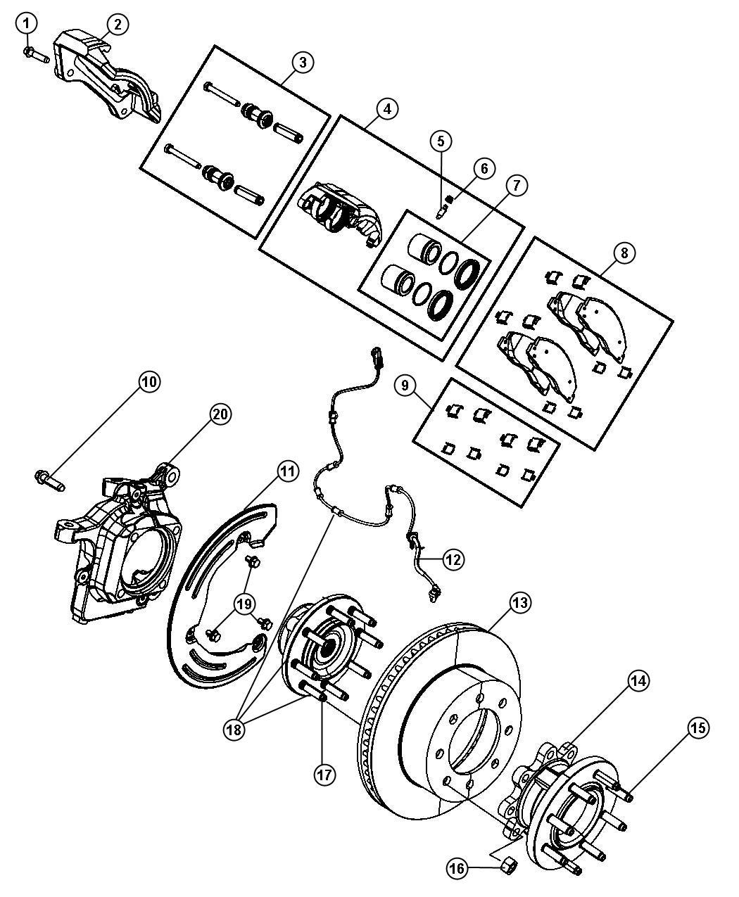2012 dodge ram 2500 adapter  right or left  disc brake
