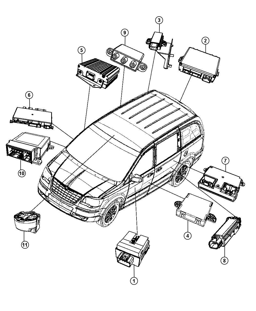 I on 2011 Dodge Grand Caravan Body Parts Diagram