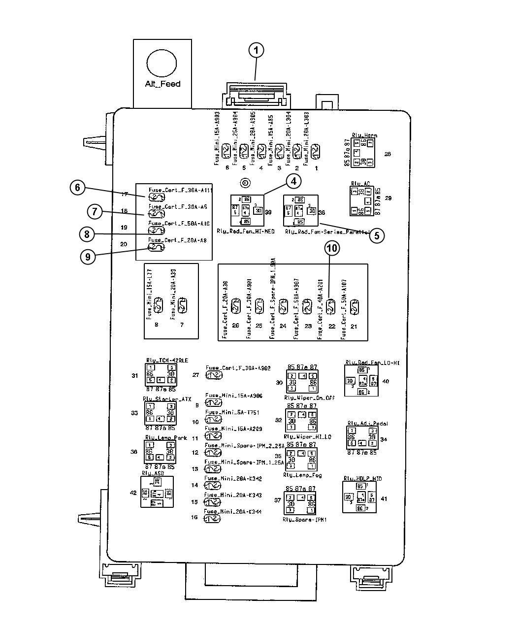 2016 Dodge Challenger Fuse  J Case  30 Amp  Adaptive