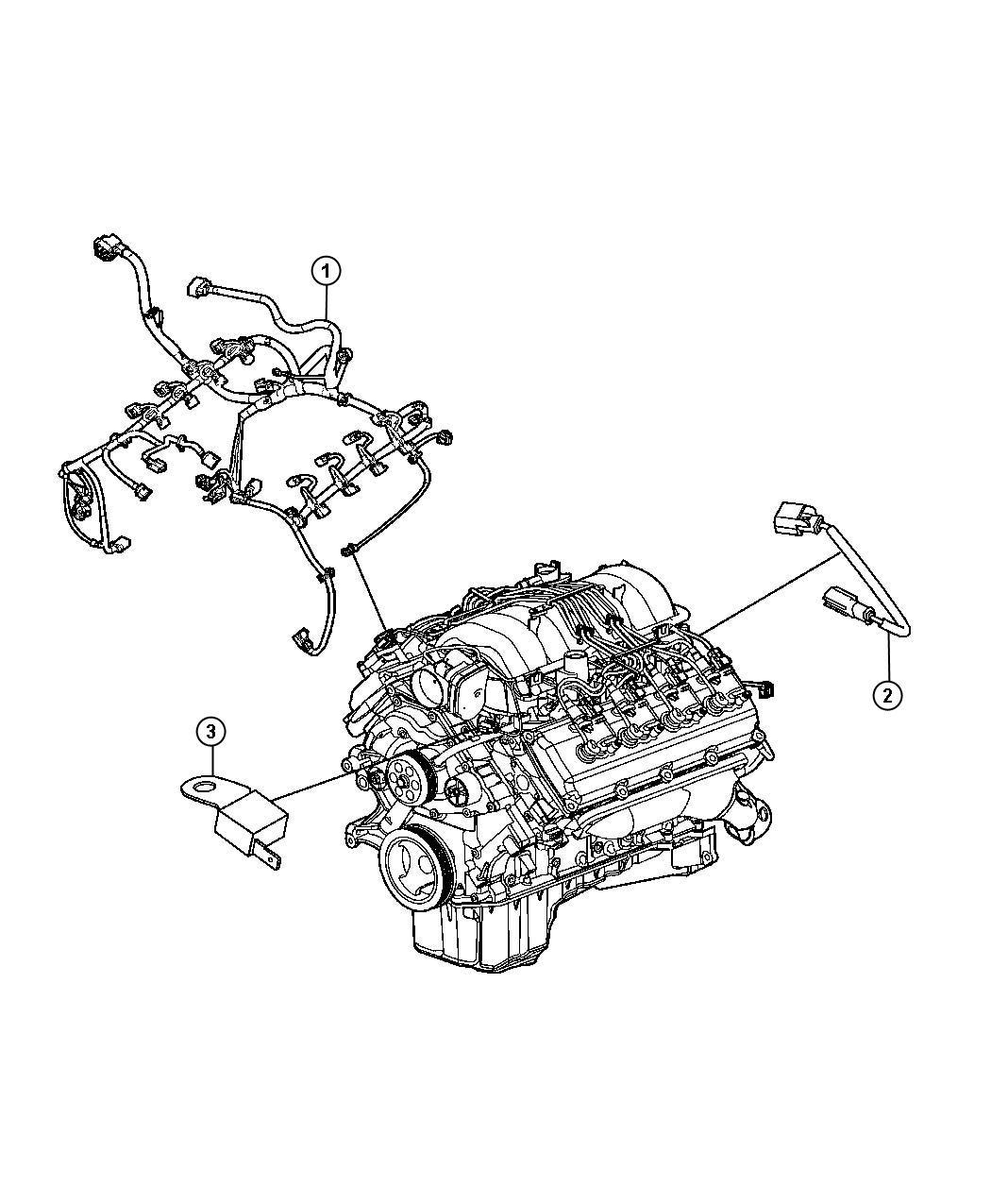2012 Dodge Charger Wiring  Engine   160 Amp Alternator  Or