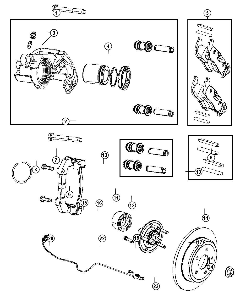2015 jeep grand cherokee pad kit  rear disc brake   br4