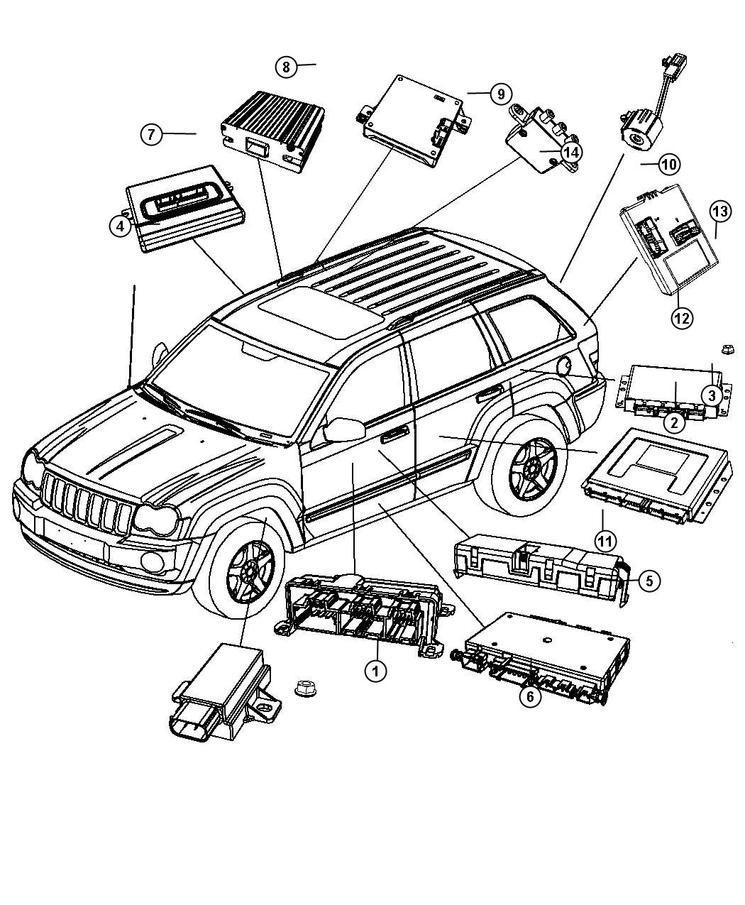 jeep cherokee liftgate latch diagram
