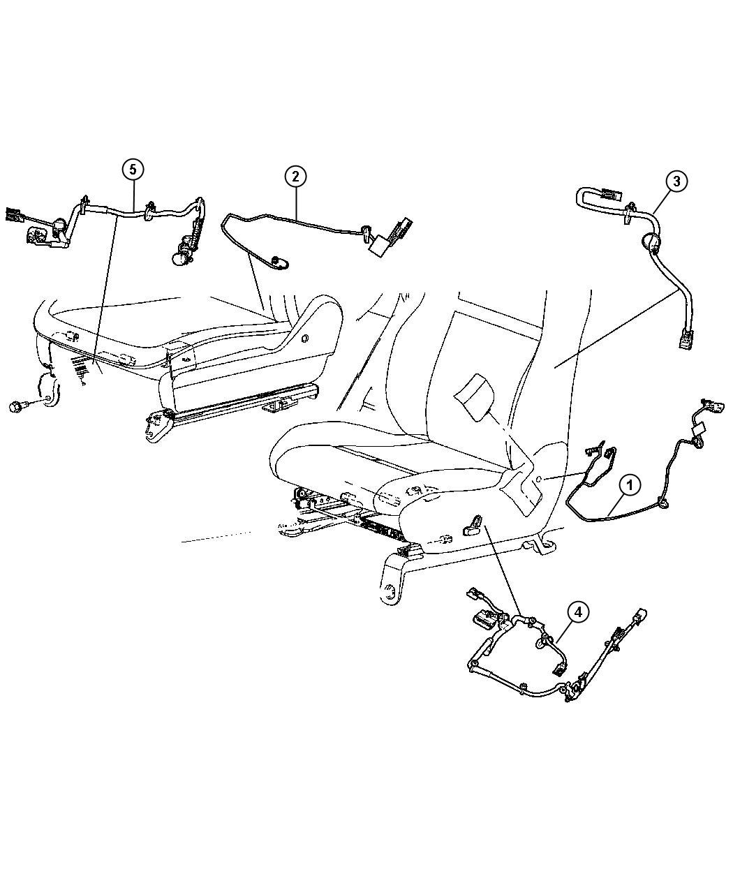 dodge durango wiring power seat trim leather trimmed. Black Bedroom Furniture Sets. Home Design Ideas
