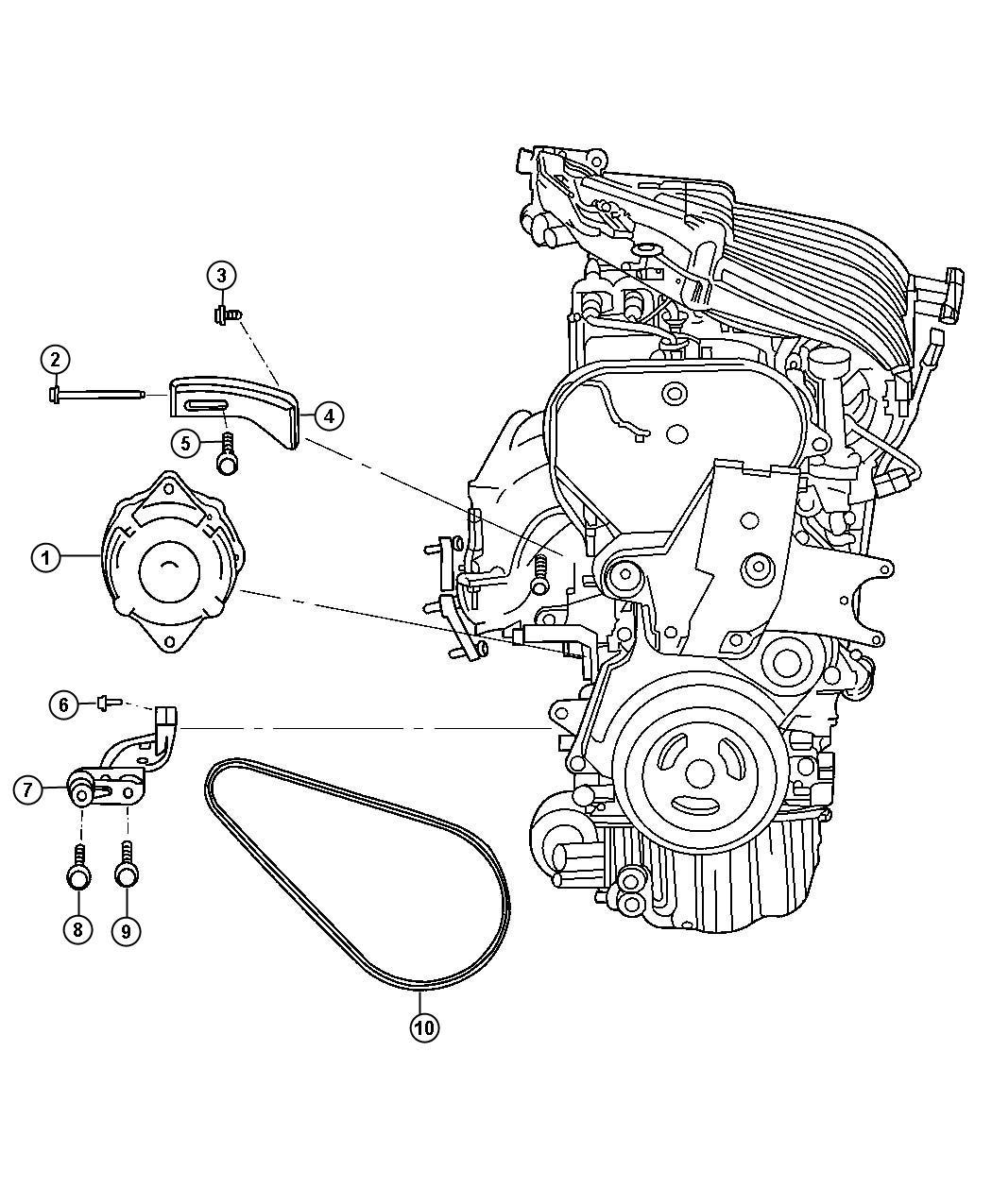 2006 pt cruiser 2 4l engine diagram    2006    chrysler    pt       cruiser    alternator    engine     ban     2006    chrysler    pt       cruiser    alternator    engine     ban
