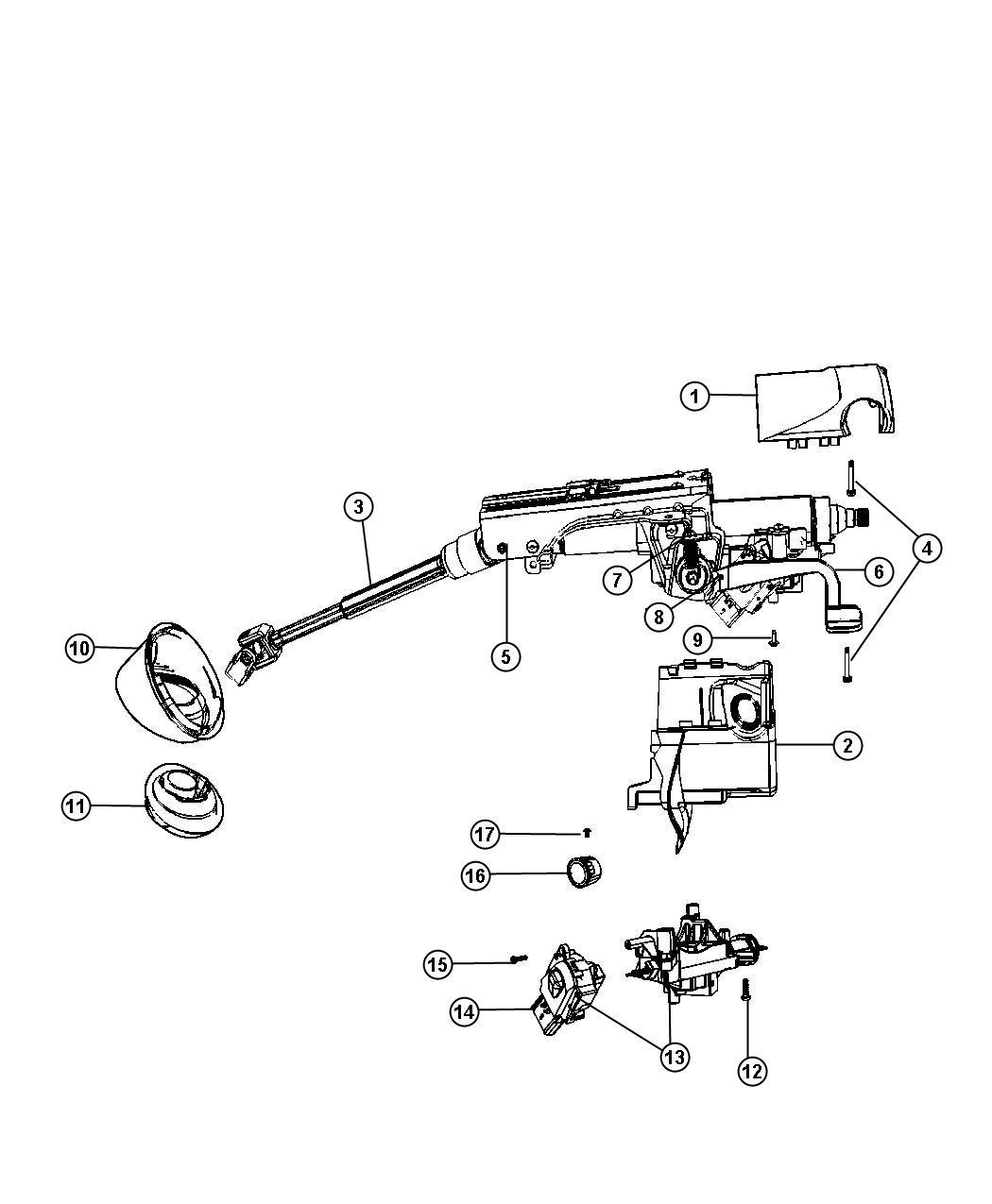 2012 Jeep Compass Housing  Steering Column Lock  Export