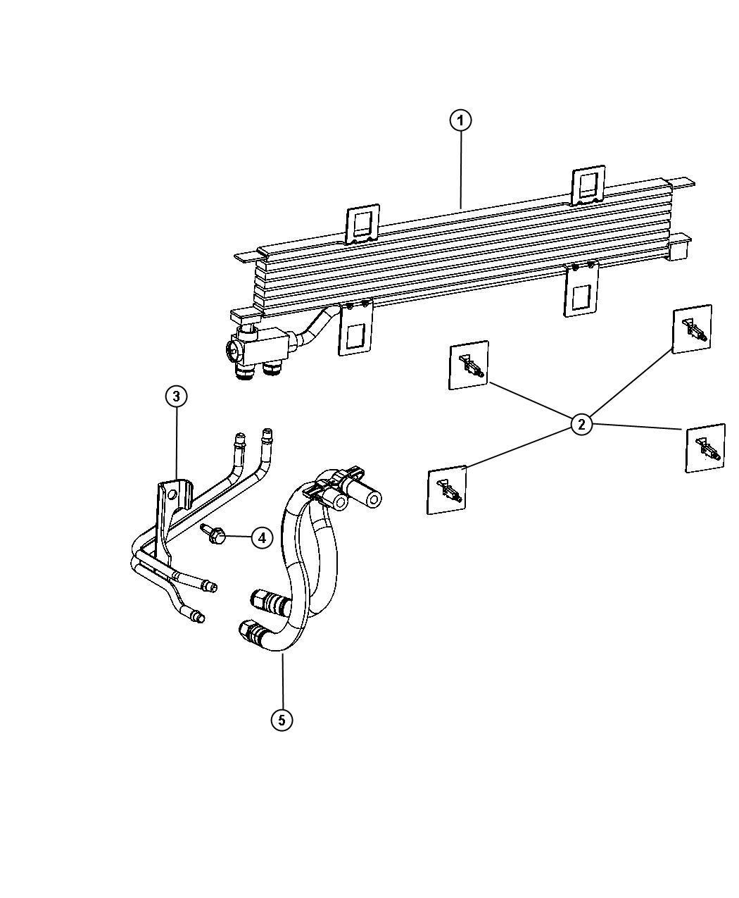2012 dodge dart tube  transmission oil cooler  lines