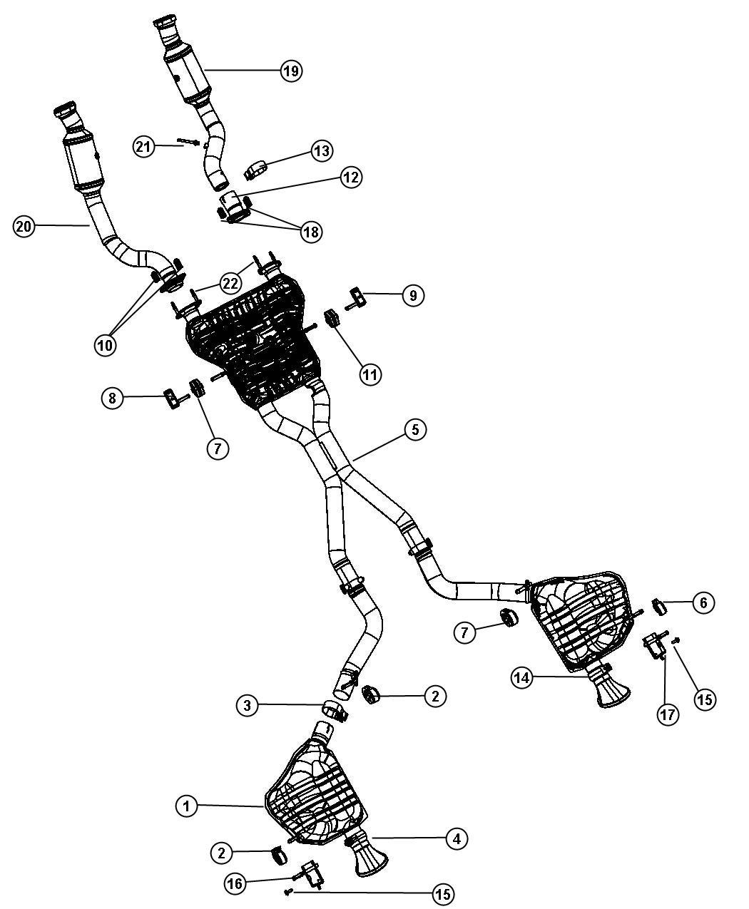 2014 jeep grand cherokee resonator and pipe  right