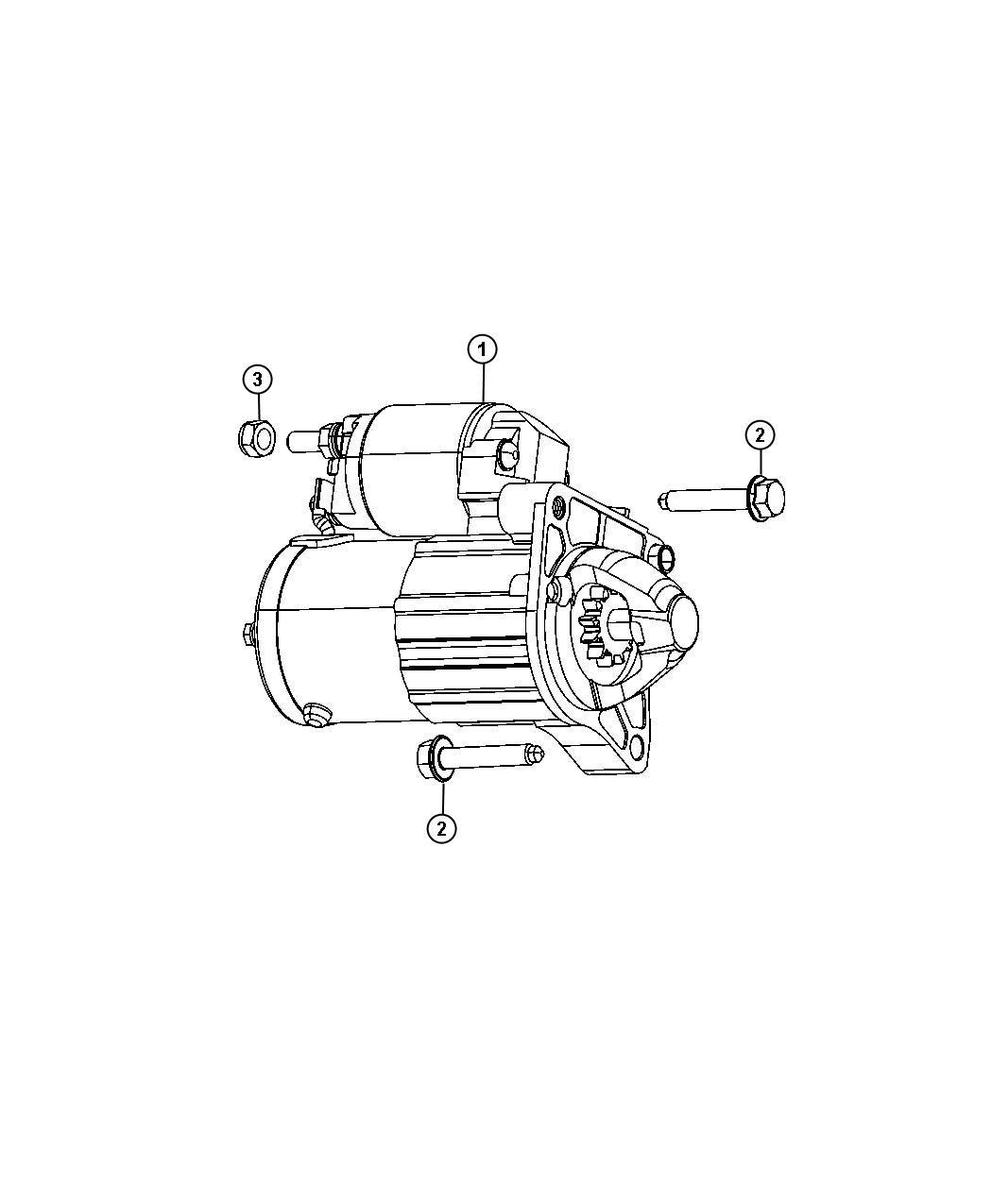 Dodge Dart Nut  Hex  M8x1 25  Alternator Jumper  Battery Wiring To Starter  Starter