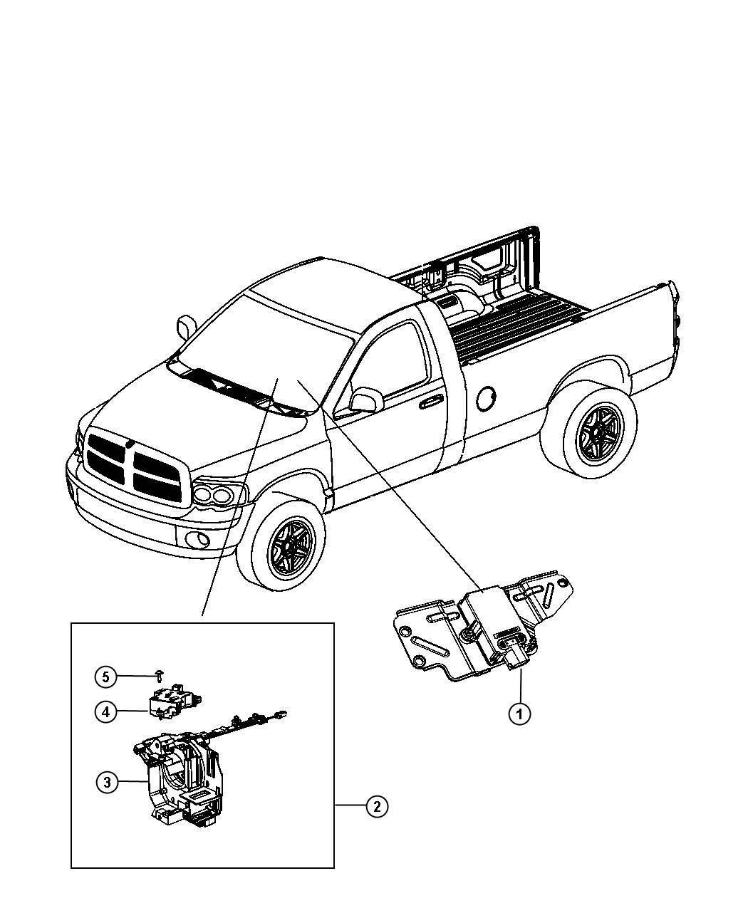 2009 dodge ram 1500 sensor  angle sensor  clockspring kit