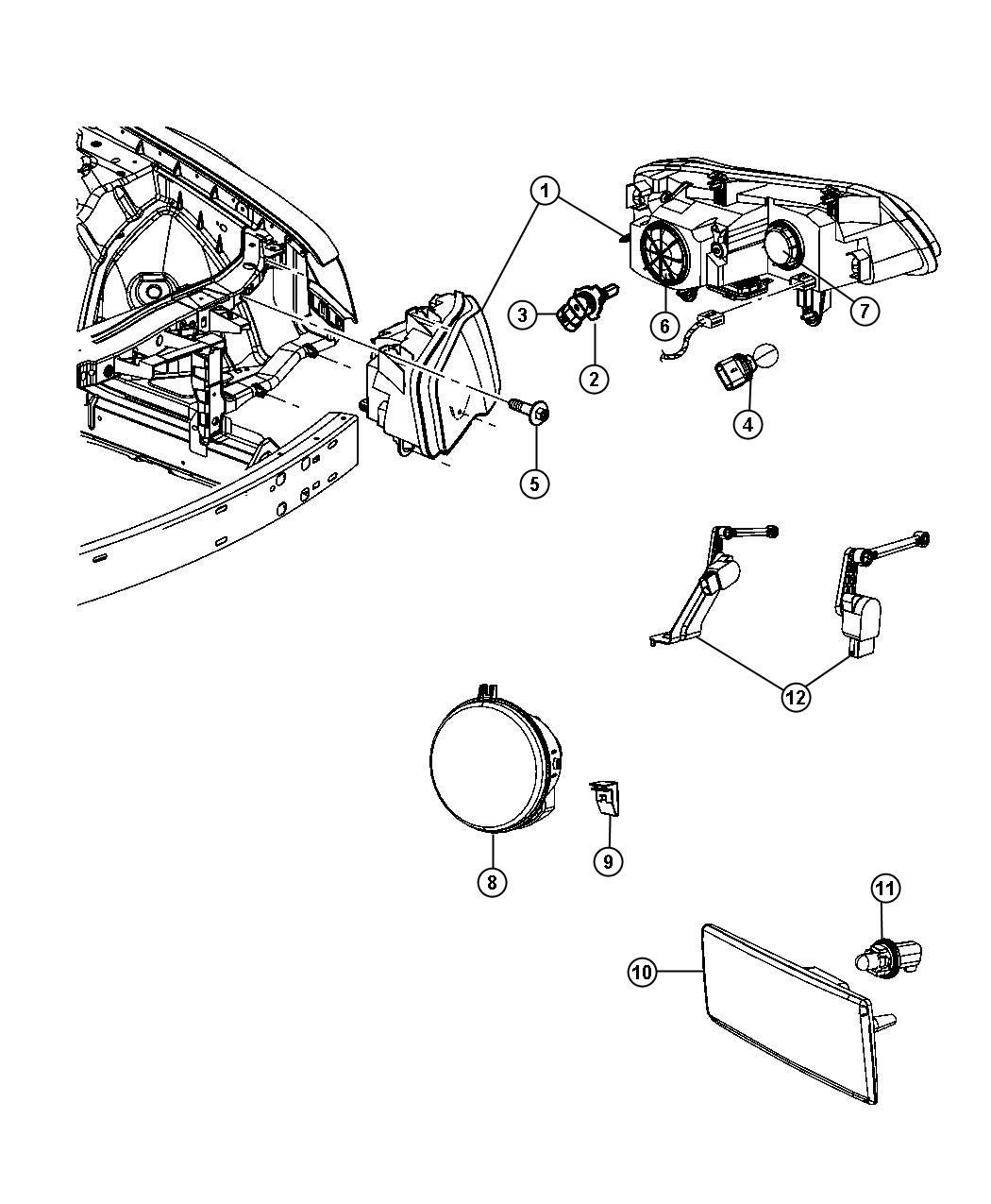 chrysler 300 wiring  front fascia