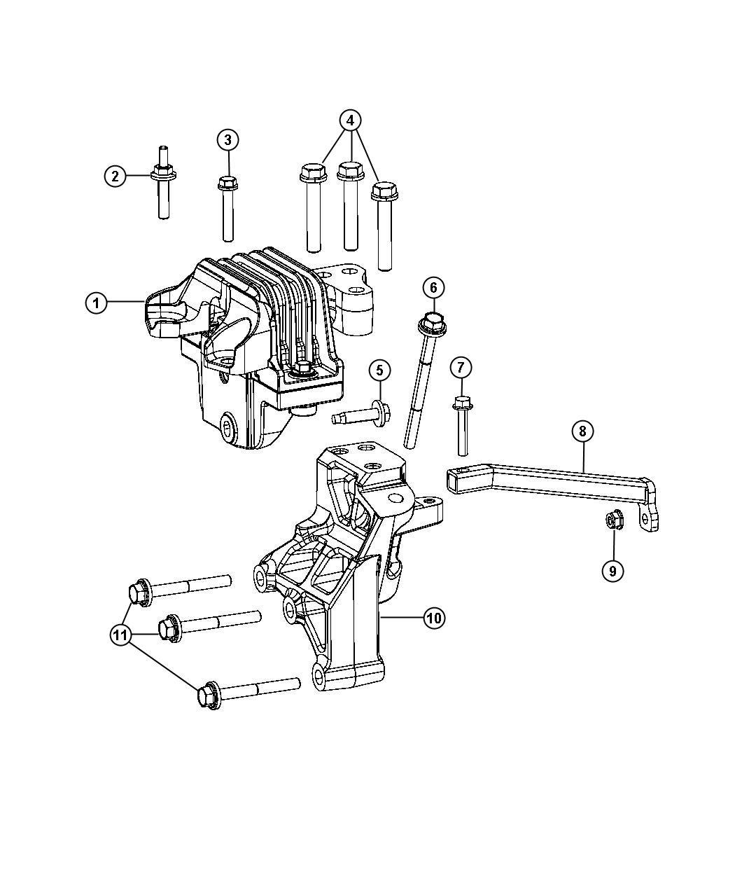 2015 Dodge Journey Bracket  Transmission Mount   6