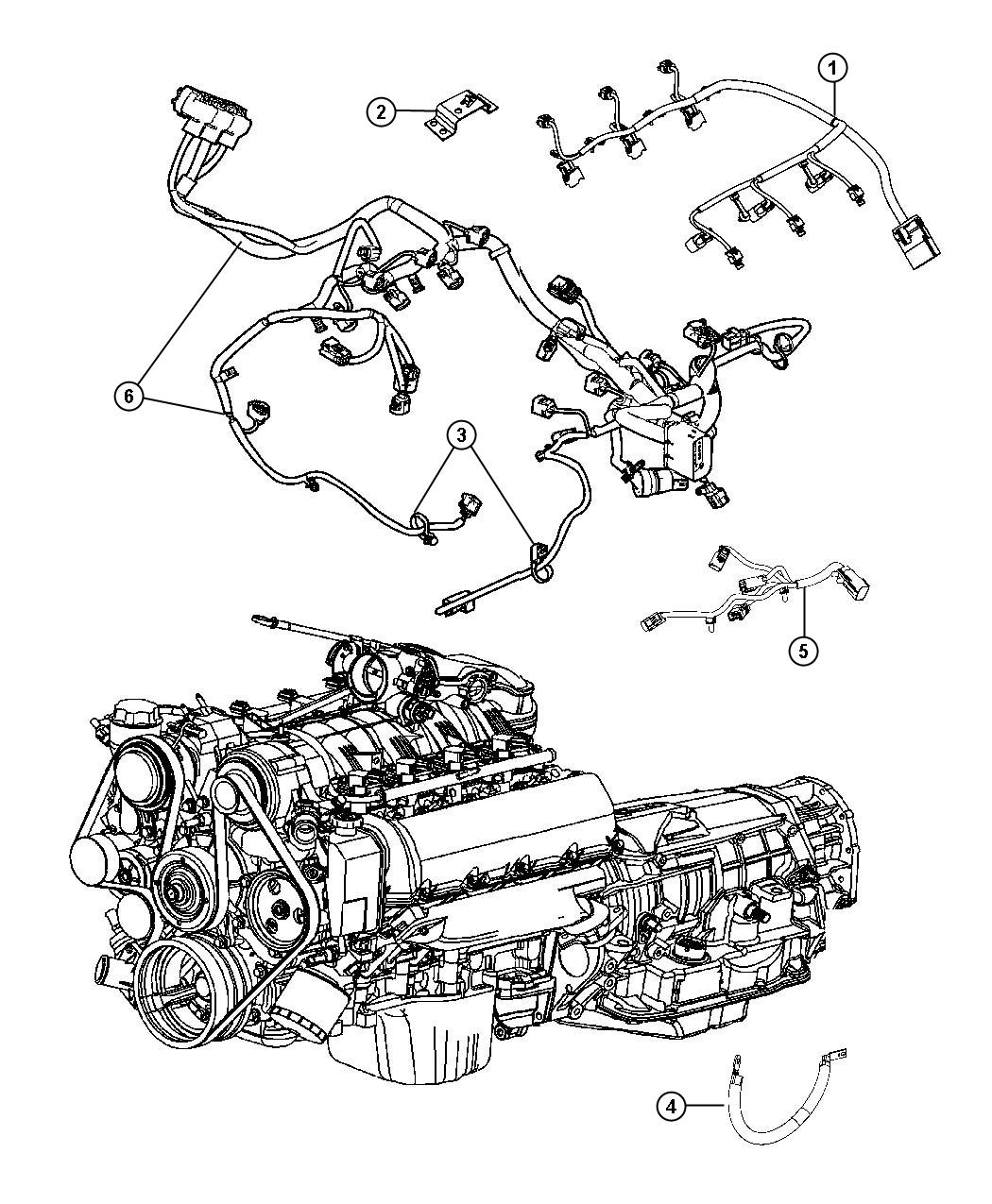 2013 Jeep Grand Cherokee Wiring  Engine  Gas  Powertrain