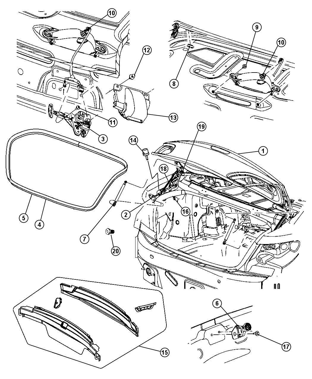 2013 Chrysler 200 Latch  Decklid  Body  Related  Mopar