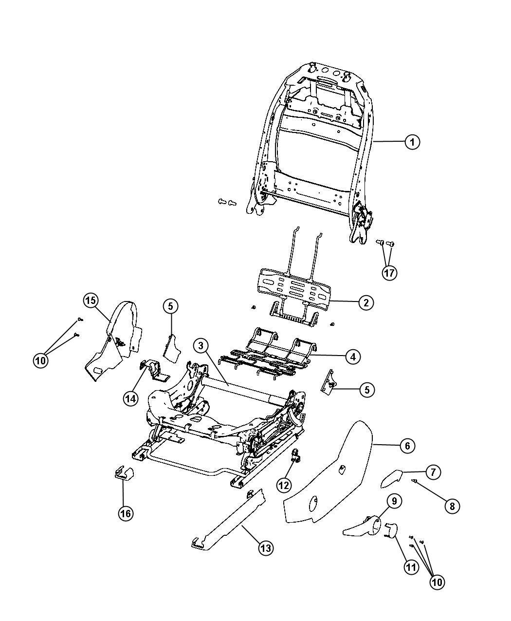 2012 Dodge Dart Shield Driver Outboard Trim Cloth Low