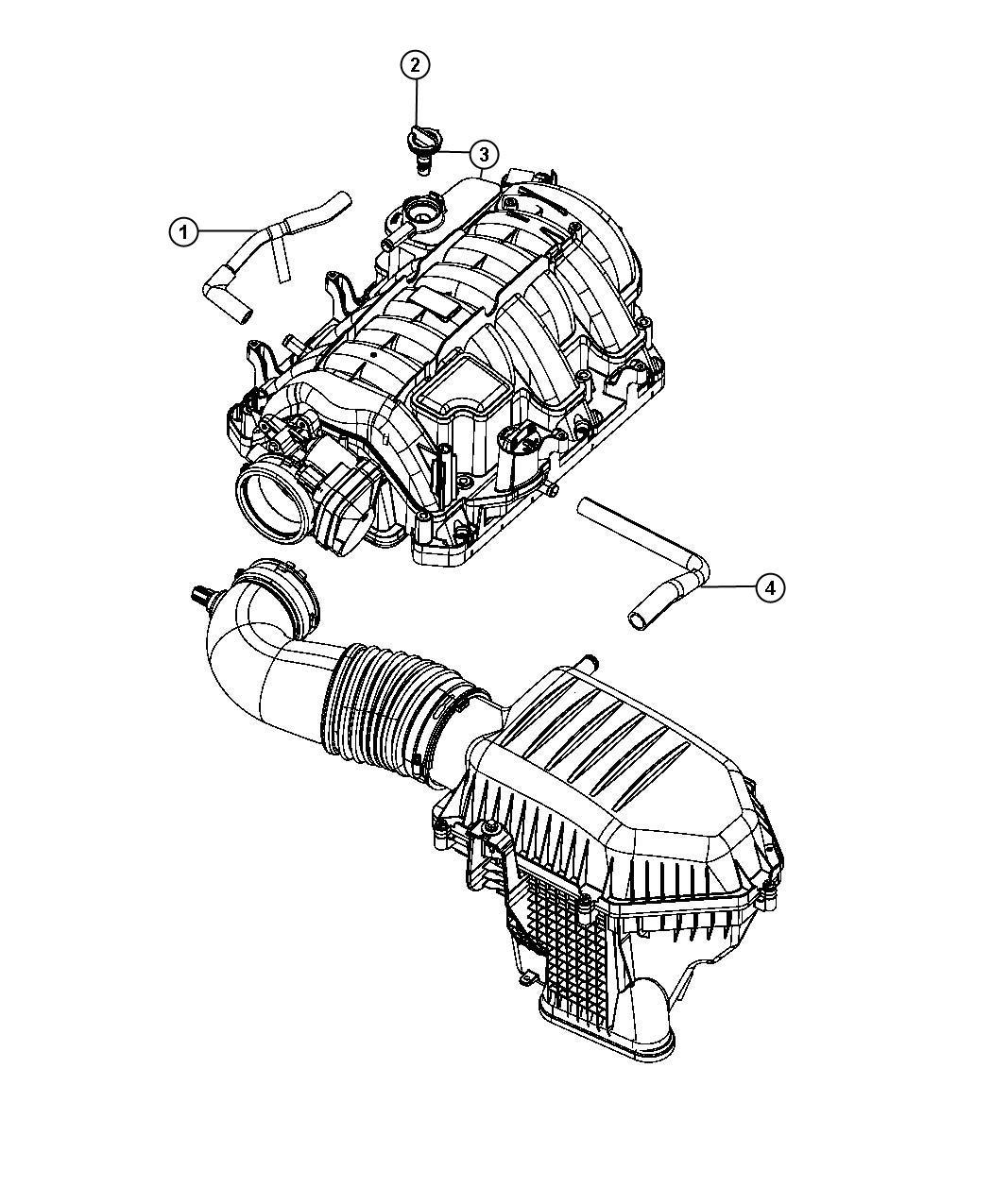 Dodge Charger Hose  Pcv Valve To Intake Manifold