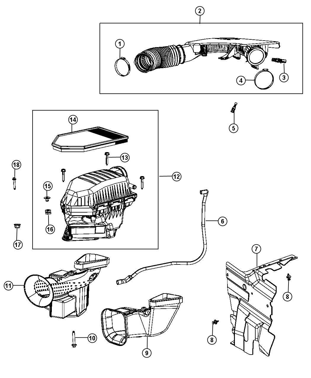 2013 Dodge Charger Transmission: 2013 Dodge Charger Hose. Make Up Air - 05184805AC