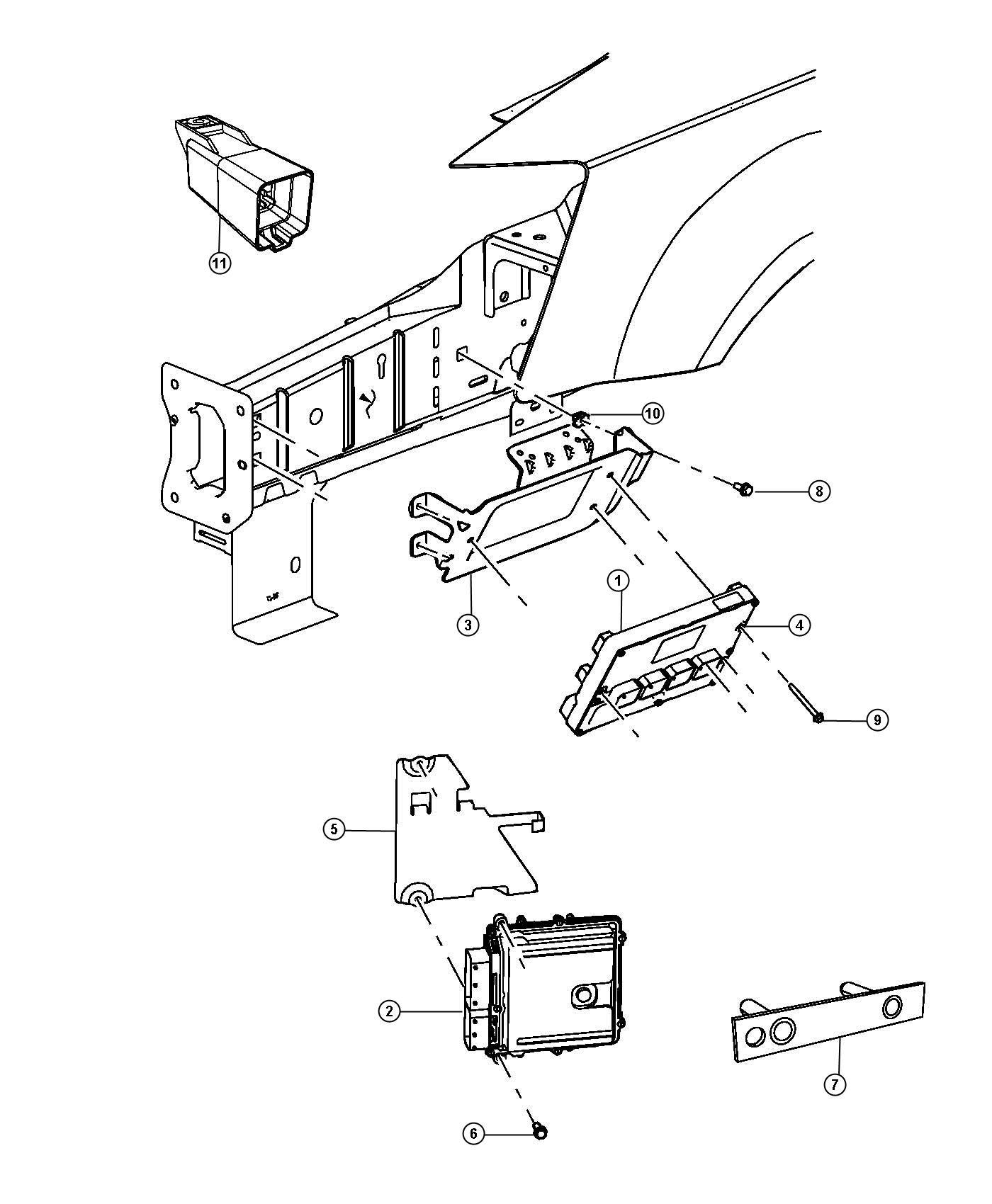2013 Dodge Module  Glow Plug  Modules  Compartment  Engine