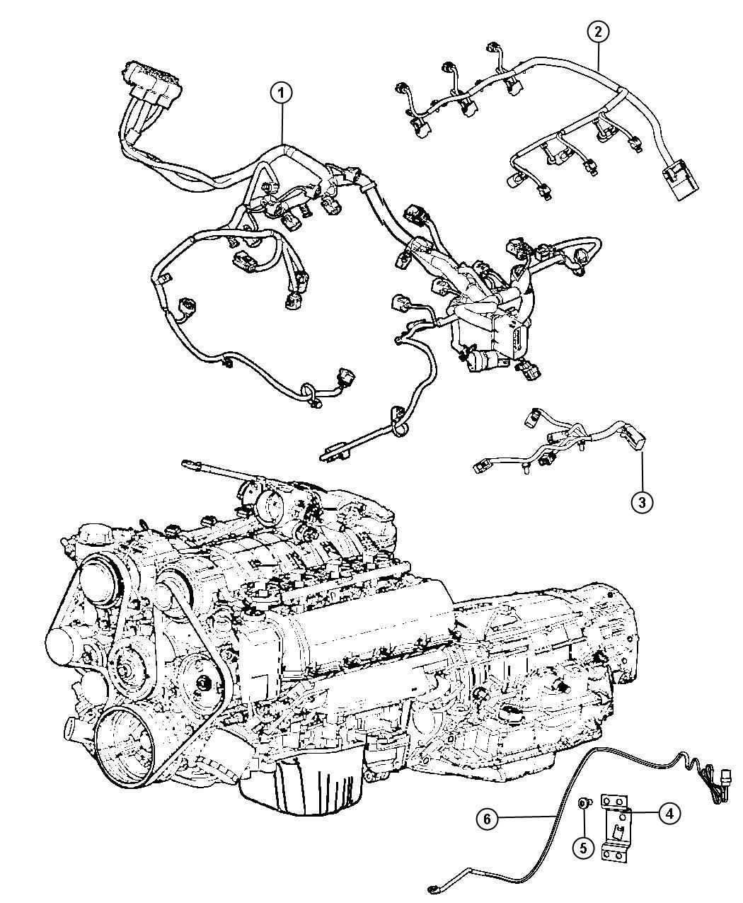 2013 Dodge Grand Caravan Wiring  Engine  Vvt
