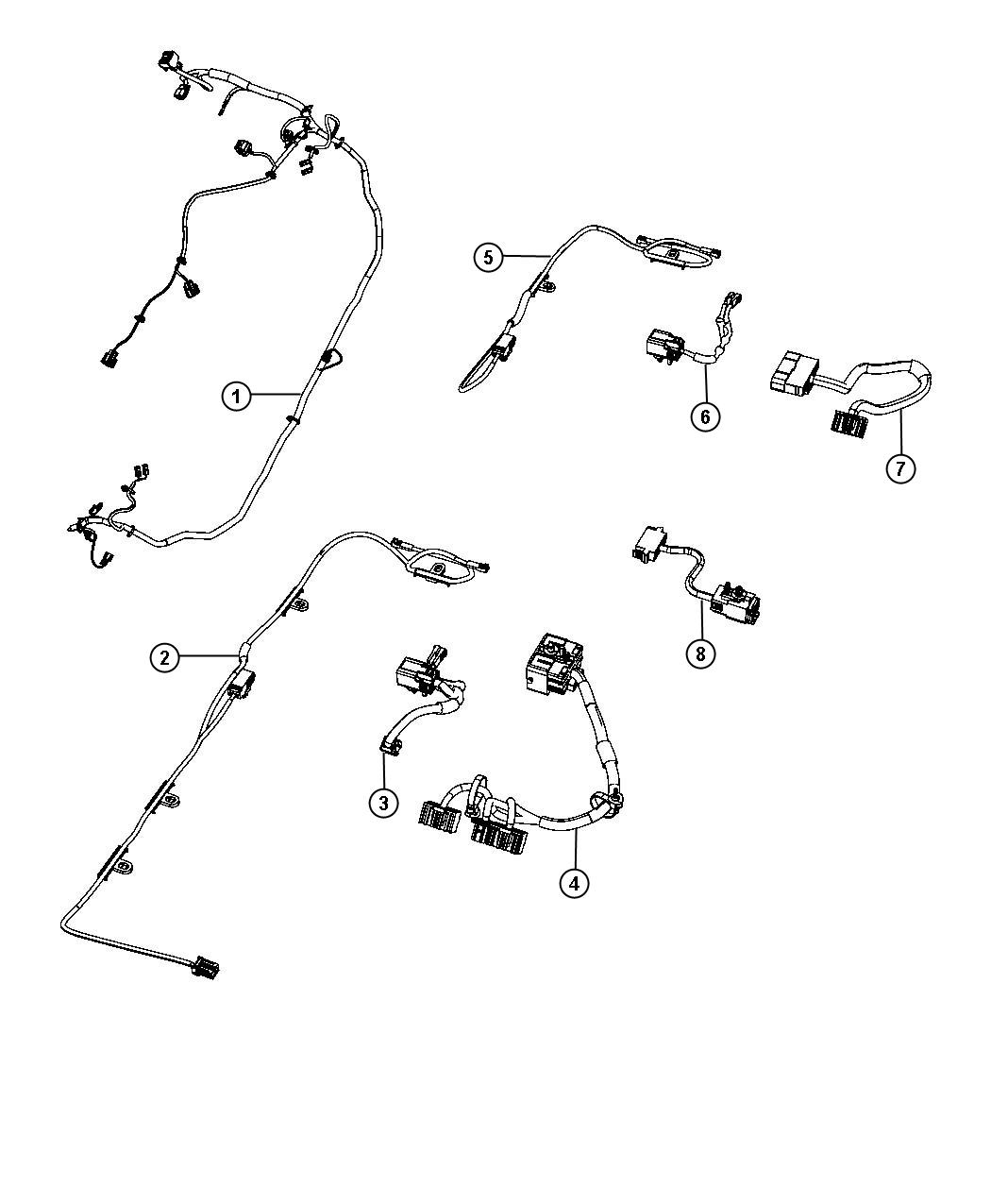 2013 Chrysler Town  U0026 Country Wiring  Jumper  Overhead
