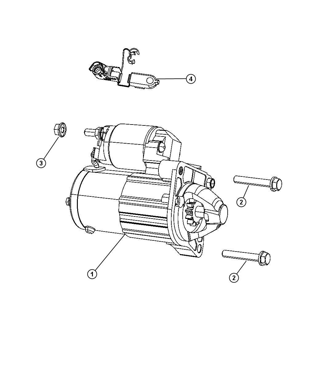 Fiat 500x Starter  Engine  Remanufactured  Related  Mopar