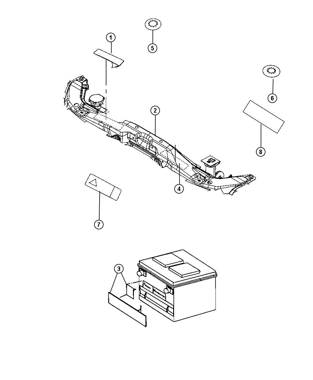 Fiat 500x Label  Battery Warning   China Equipment Group