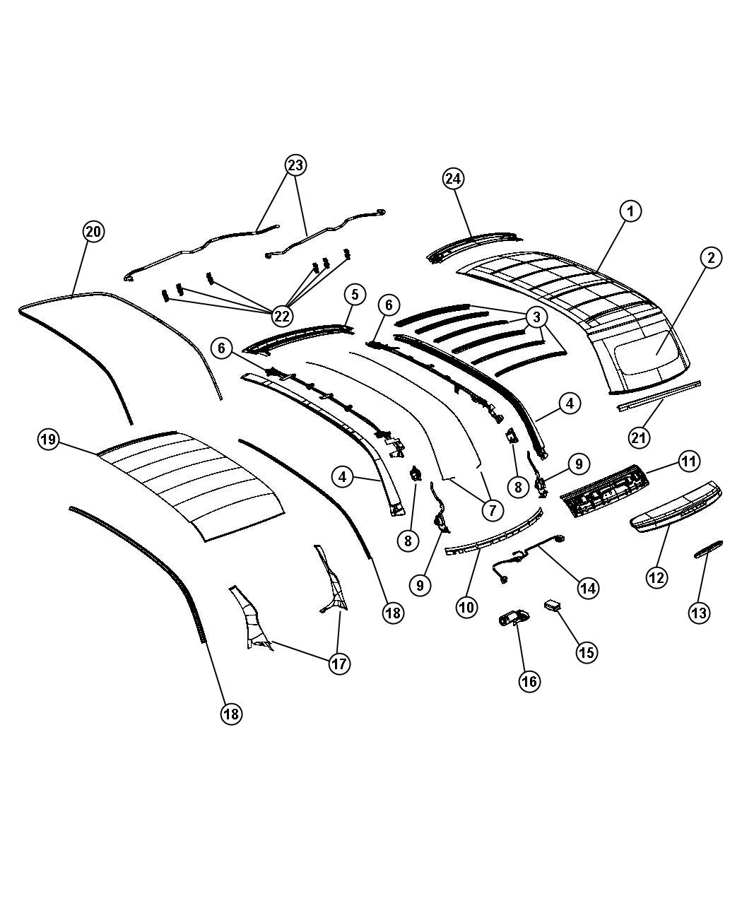 Diagram Convertible Top. for your Fiat 500C