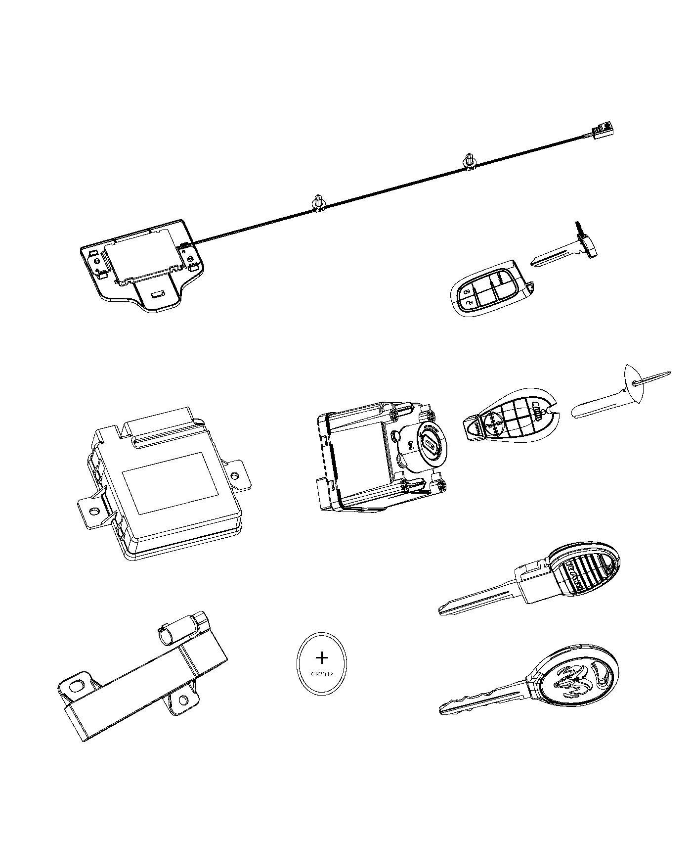2013 Dodge Ram 1500 Receiver  Hub   Sentry Key Theft