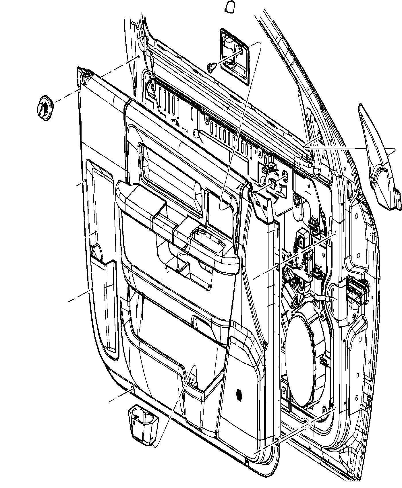2013 Dodge Ram 1500 Panel  Front Door Trim  Left  Trim