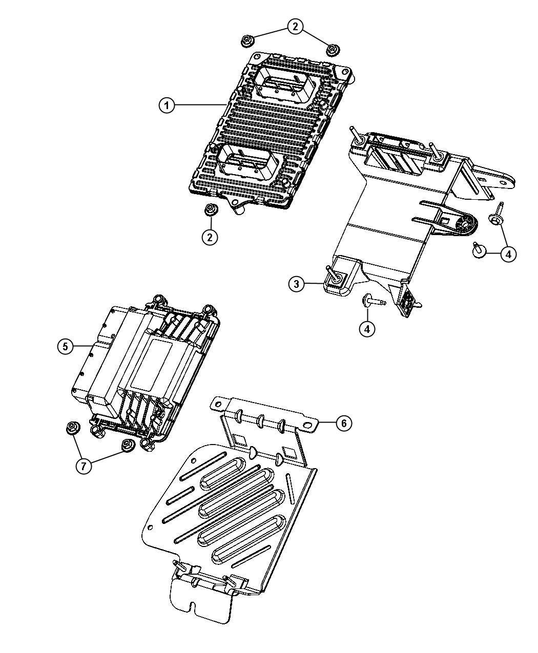 2013 Dodge Charger Transmission: 2013 Dodge Dart Bracket. Transmission Control Module. [x87