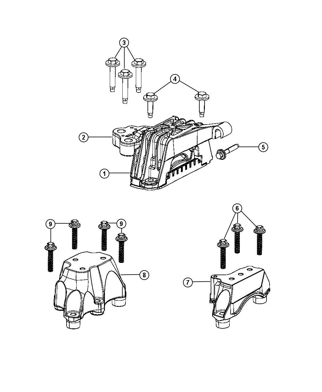 2013 Dodge Dart Insulator  Isolator  Engine Mount