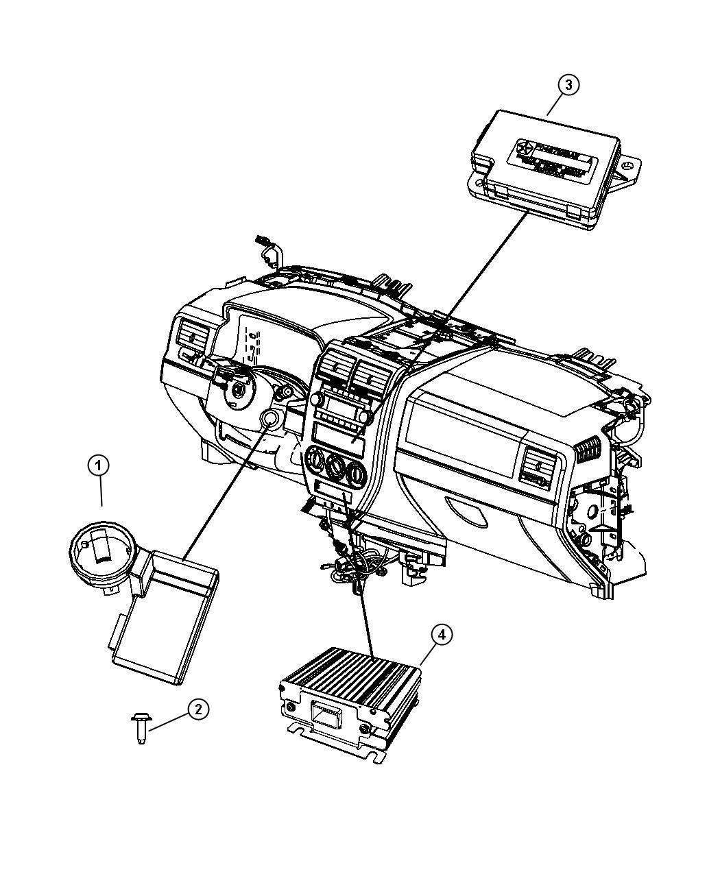 2013 Jeep Patriot Module  Compass  Center  Dvd  Hdd