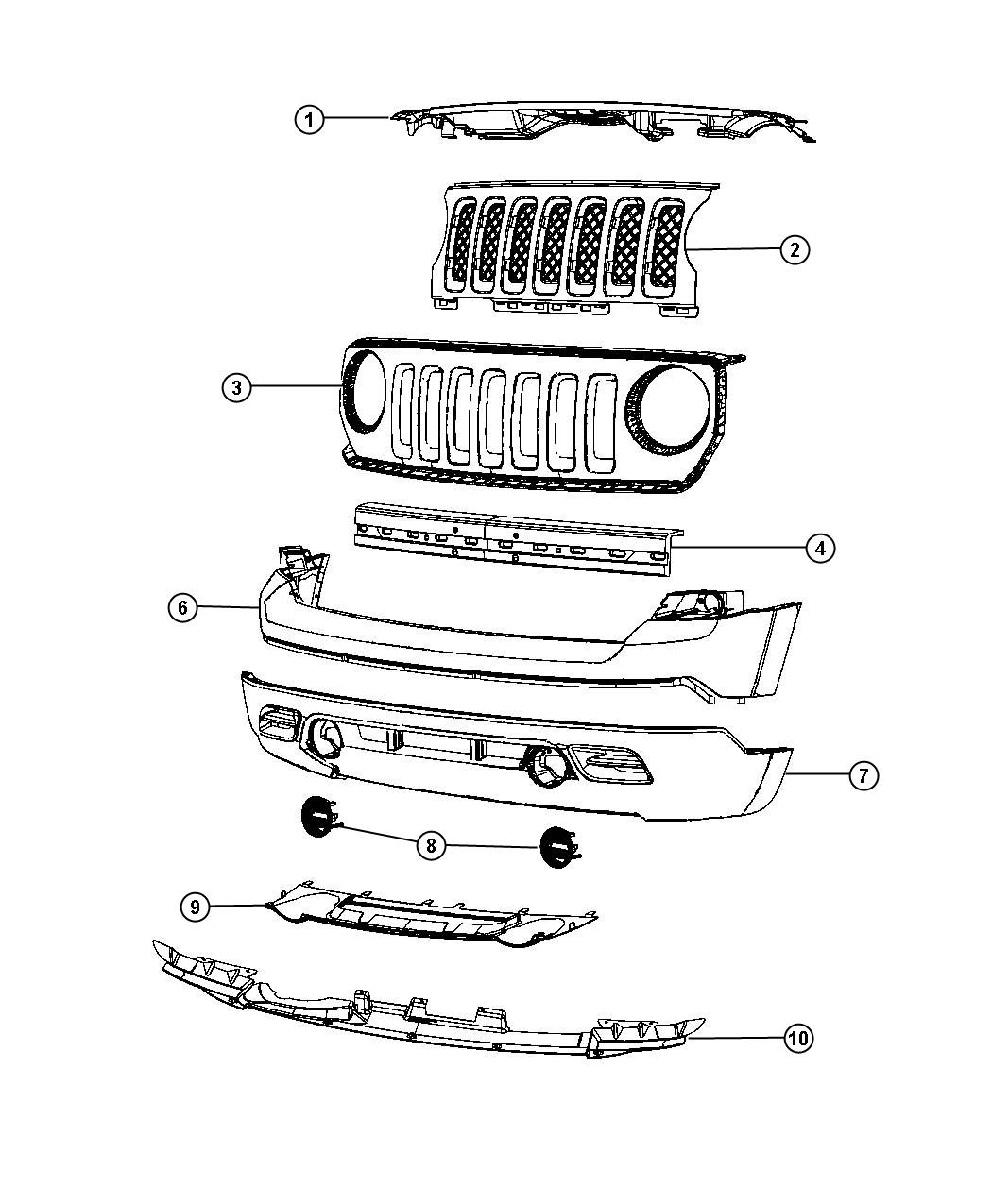 2013 Jeep Patriot Interior: 2013 Jeep Patriot Foam. Front Bumper Fascia. [mla] Or [mcy