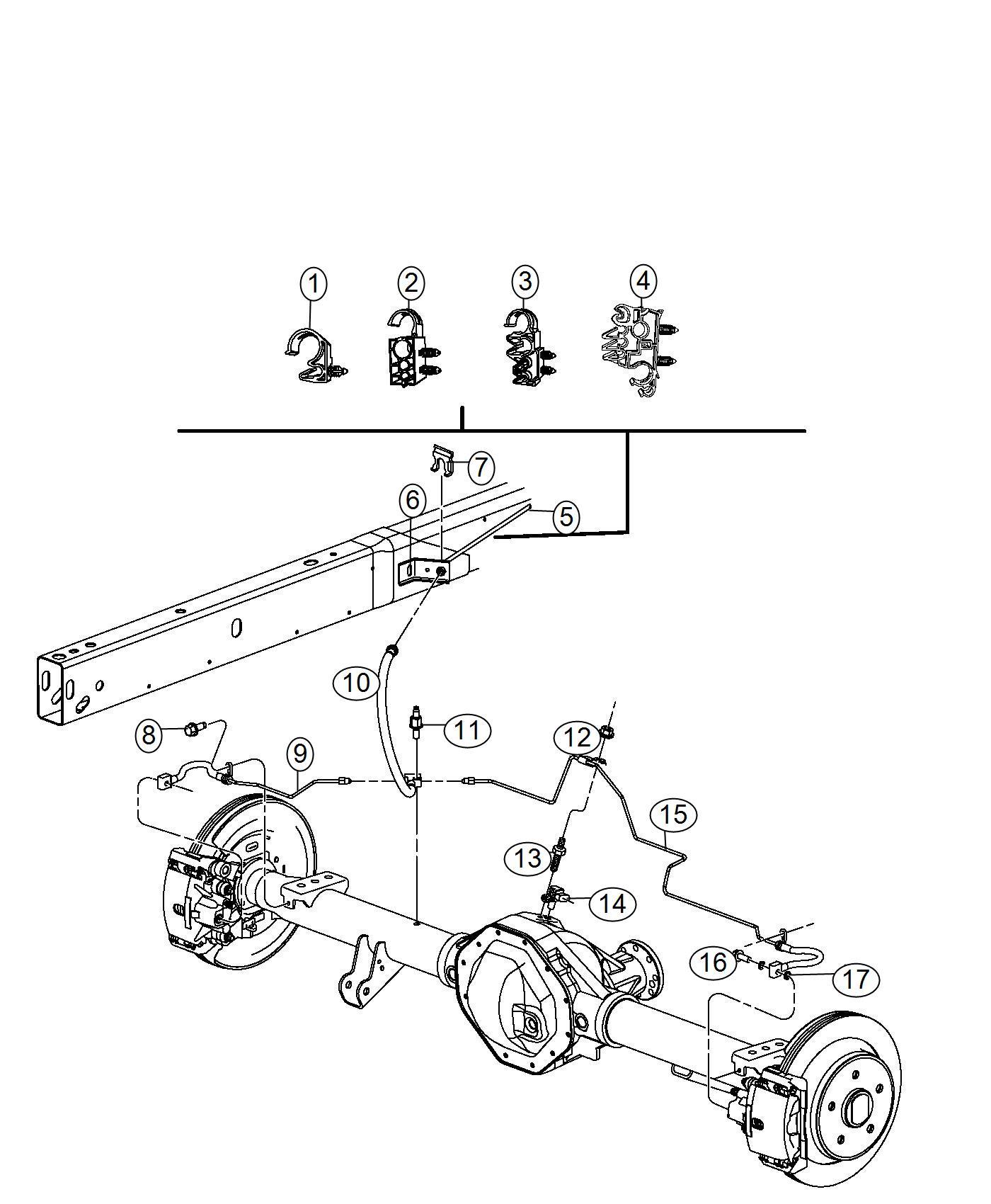 2012 dodge ram 3500 tube  hose  brake   electronic stability control