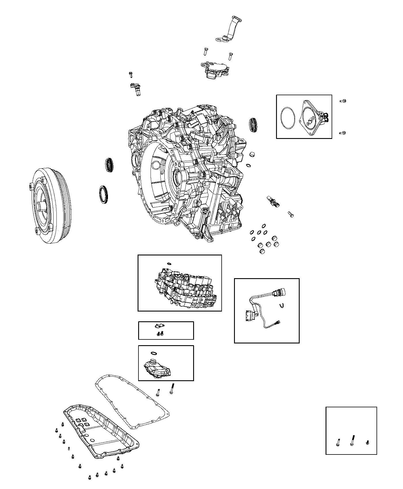2011 Dodge Caliber Valve Body Kit  Transmission  Service