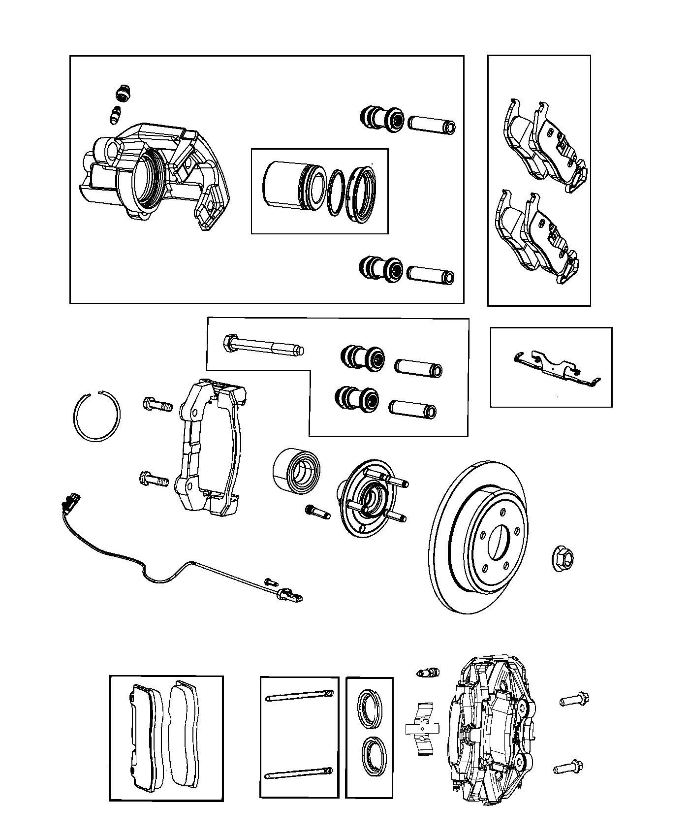 2014 jeep grand cherokee pad kit  rear disc brake  brakes