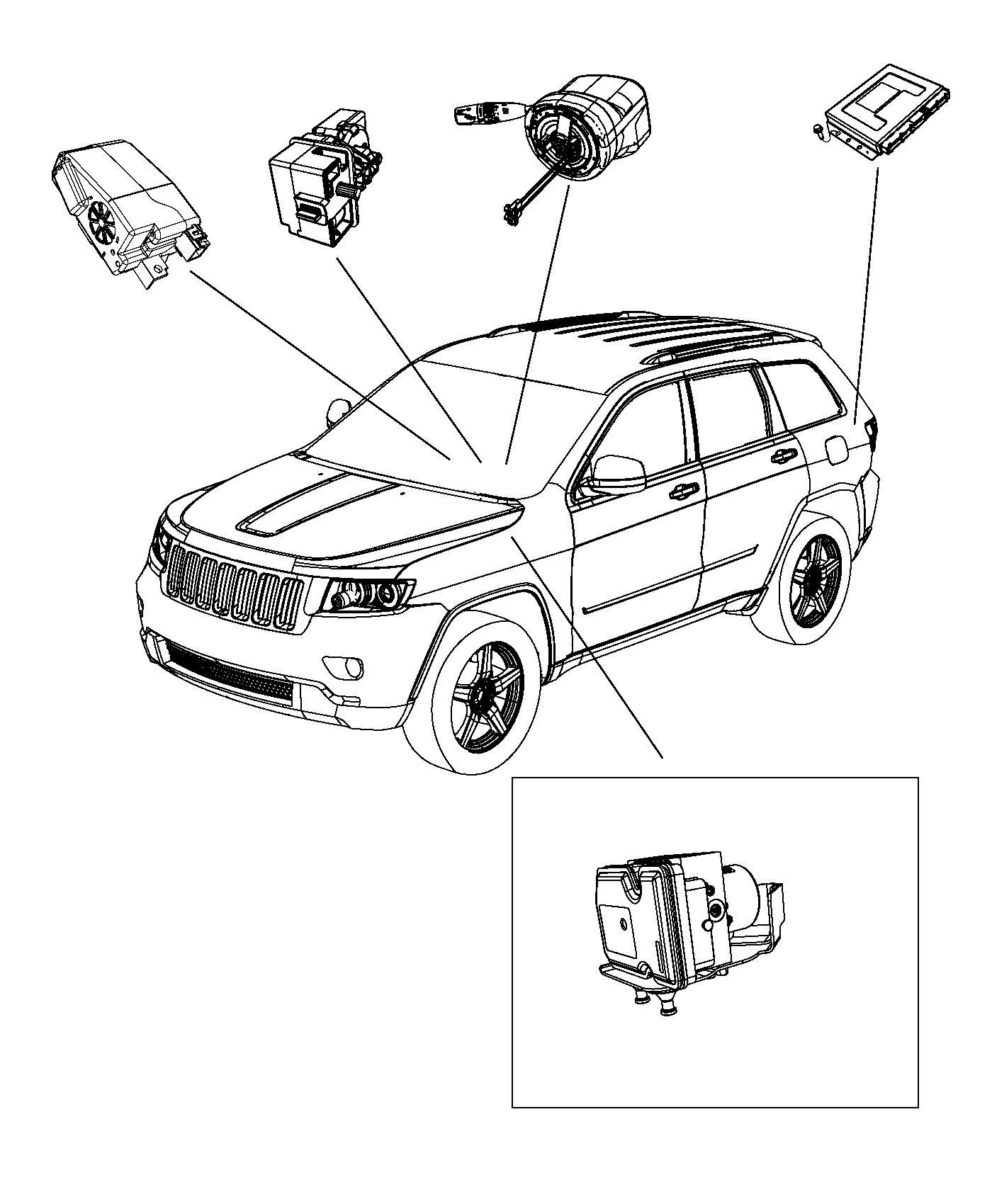 2016 jeep grand cherokee bracket  module  speed  transfer