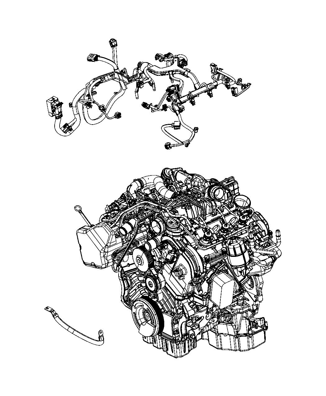 2014 Jeep Grand Cherokee Wiring  Injector   50 State