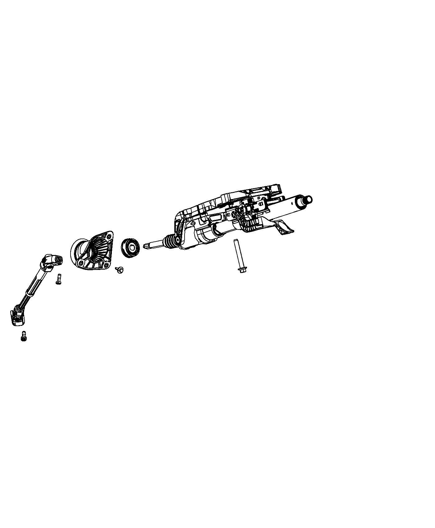 Jeep Grand Cherokee Column  Steering   Tilt  Telescope