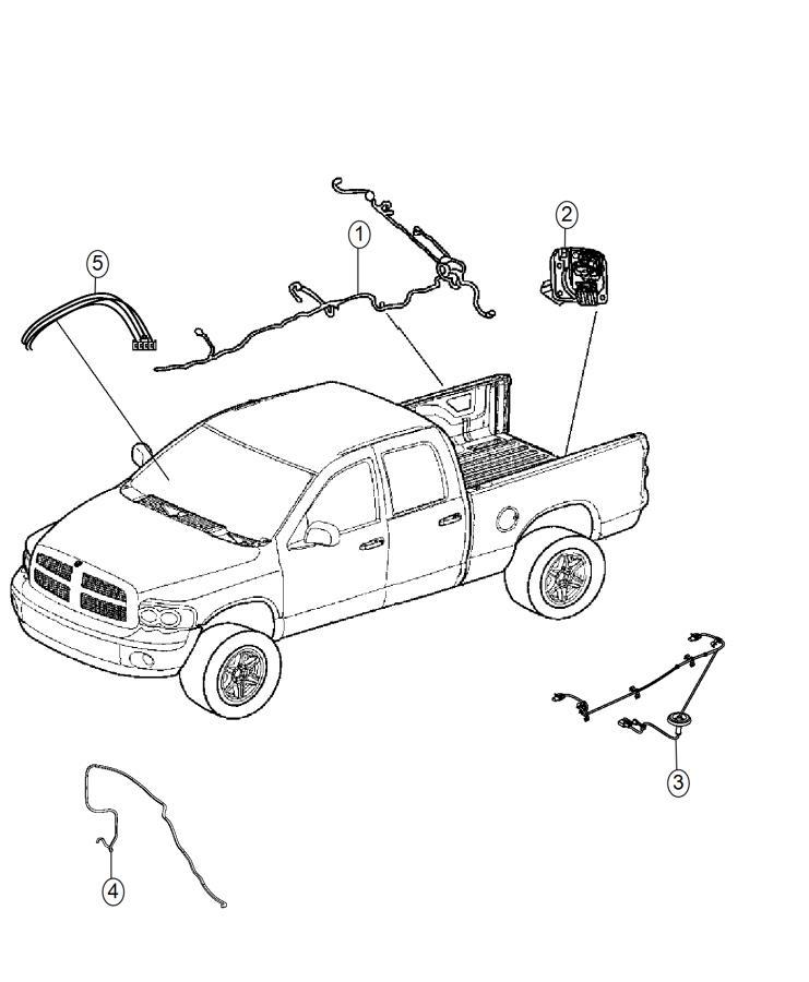 ram 2500 wiring  chassis   delete pickup box